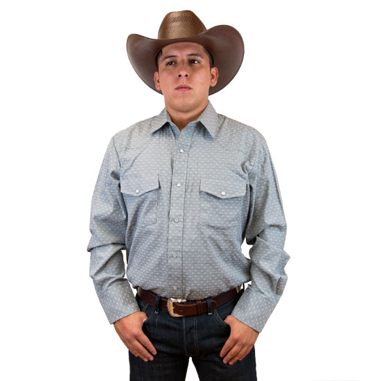 Roper Alcalas Western Wear Men S Grey Print Western