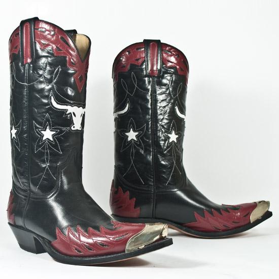 Sendra Alcalas Western Wear Men S Black Cowhide Boot With