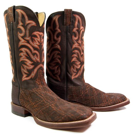 Justin Alcalas Western Wear Men S Cognac Elephant Cowboy
