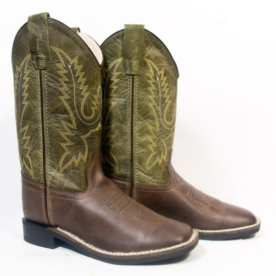 Old West Alcalas Western Wear Youth Chocolate Leather