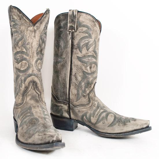 Dan Post: Alcalas Western Wear Men's Grey distressed cowboy boots ...
