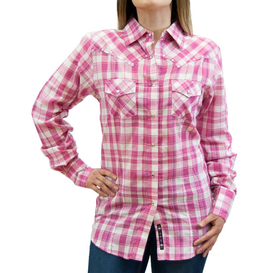 Resistol Alcalas Western Wear Women S Pink Quot Allie Quot Plaid