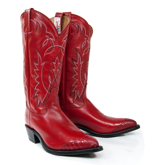 Tony Lama Alcalas Western Wear Men S Red Leather Cowboy