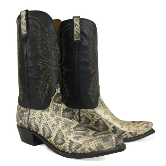 lucchese alcalas western wear mens eastern rattle snake