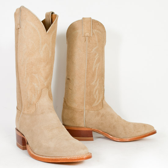 Justin: Alcalas Western Wear Men&39s Tan suede cowboy boots leather