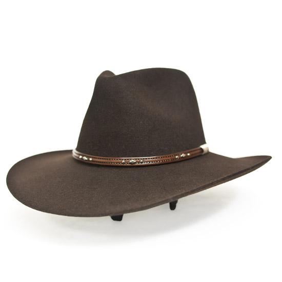 Stetson  Alcalas Western Wear 5X Genuine Chocolate Fur felt