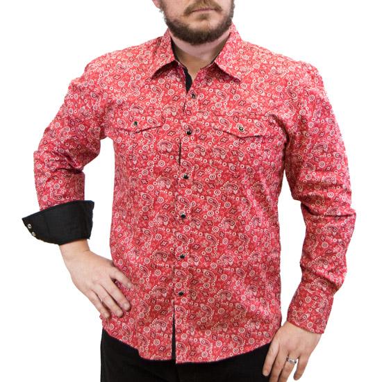 Maxini Alcalas Western Wear Men S Red Paisley Western